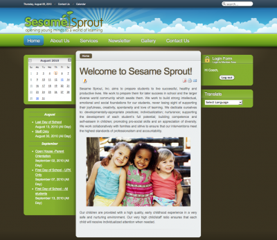 Sesame Sprout School